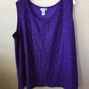 Women's 2x Maggie Barnes purple spring tank top